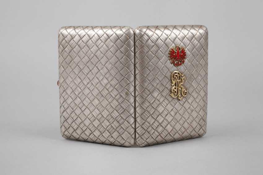 Silver massive cigarette case Russia - photo 2
