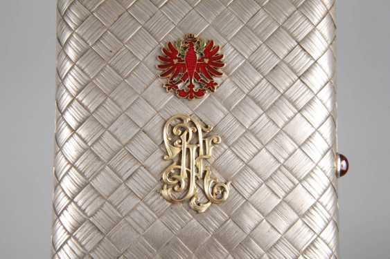 Silver massive cigarette case Russia - photo 8