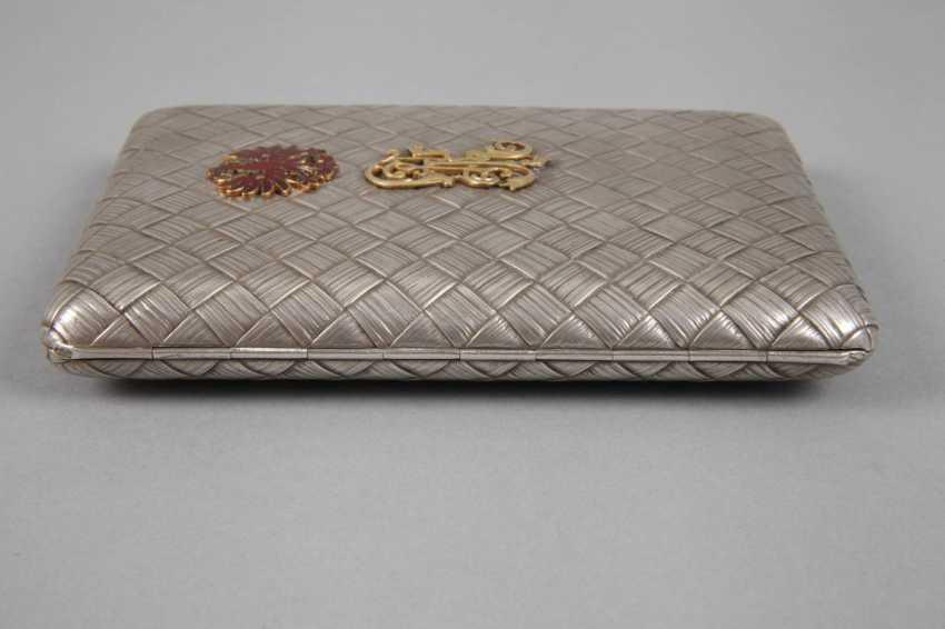 Silver massive cigarette case Russia - photo 9