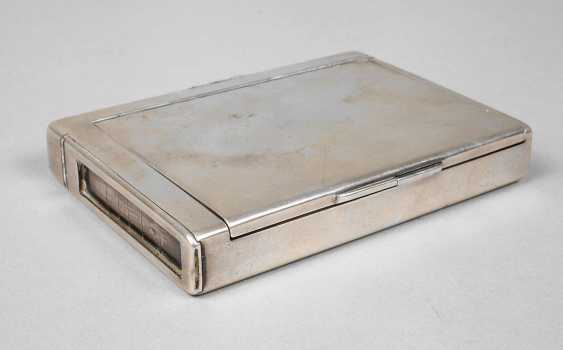 Cigarette box with photo window and string wooden case - photo 1