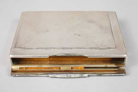 Cigarette box with photo window and string wooden case - photo 4