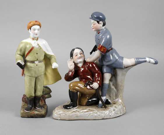 Two Porcelain Figurines Propaganda - photo 1