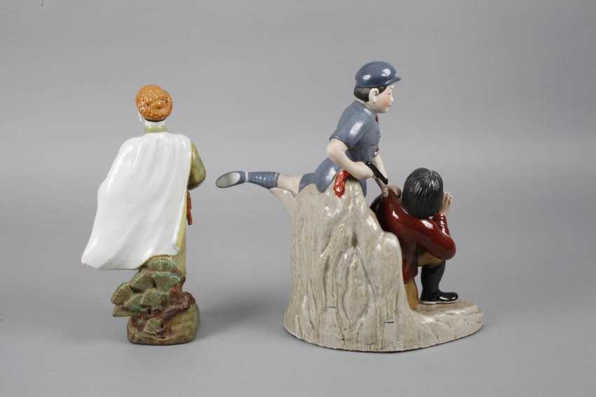 Two Porcelain Figurines Propaganda - photo 3