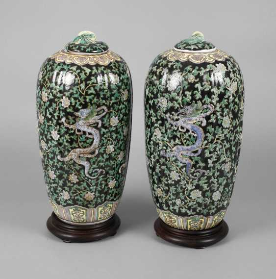 Pair Of Cover Vases - photo 1