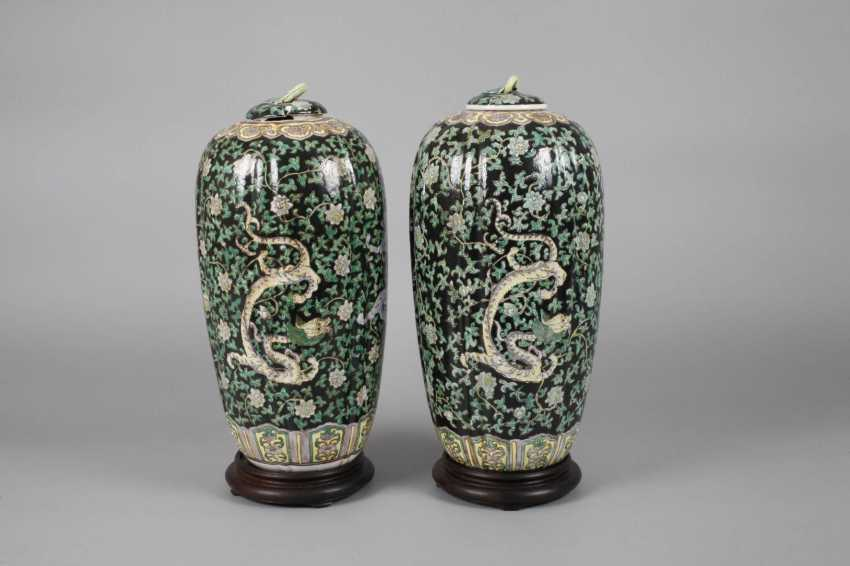 Pair Of Cover Vases - photo 2