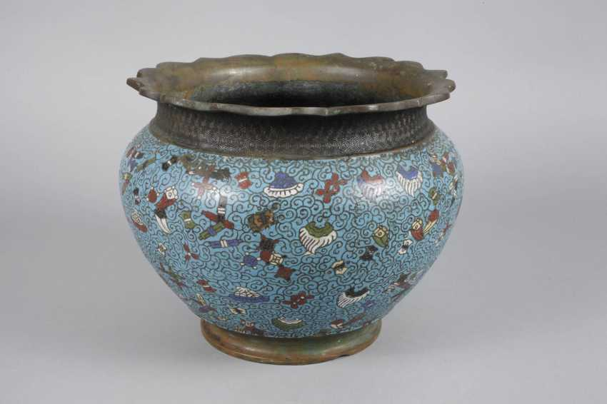 Cachepot Cloisonne - photo 2