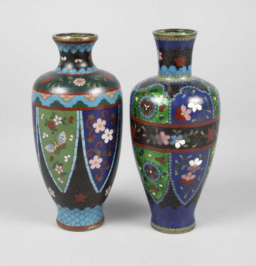 Zwei Vasen Cloisonne - photo 1