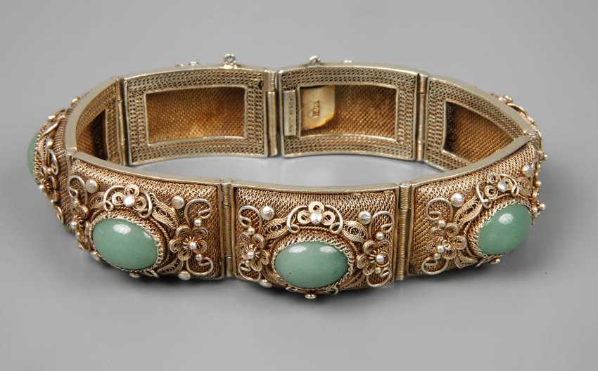 Bracelet, filigree work with Aventurinen - photo 1