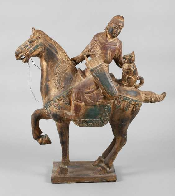 Horse with rider in Tang-style - photo 1