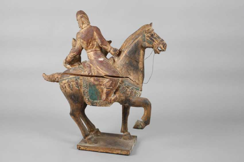 Horse with rider in Tang-style - photo 2