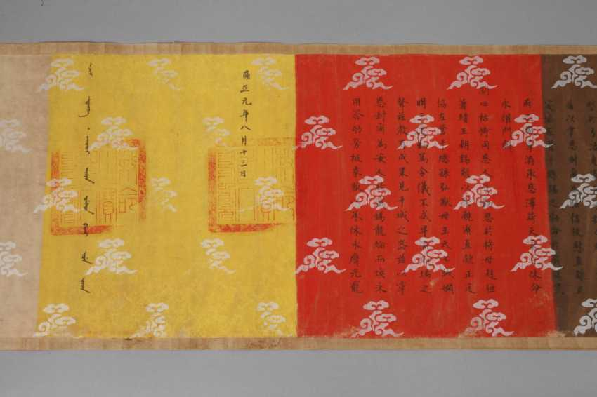 Scroll painting with calligraphy - photo 4