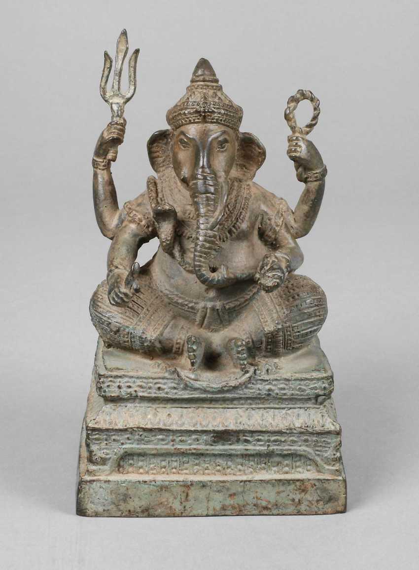 Bronze Sculpture Of Ganesha - photo 1