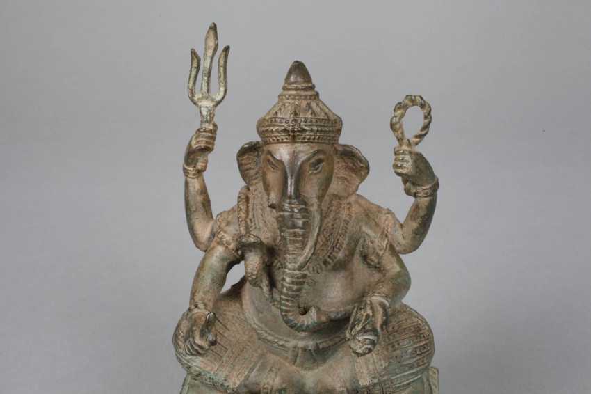 Bronze Sculpture Of Ganesha - photo 2