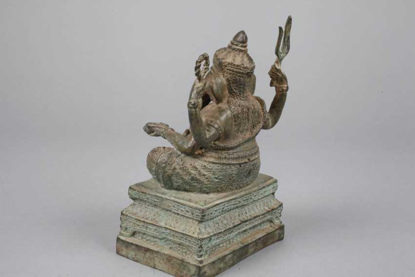 Bronze Sculpture Of Ganesha - photo 3