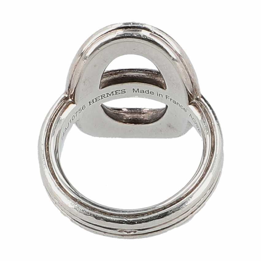 """HERMÈS Ring """"CHAIN D`ANCRE"""", Grösse 53. - photo 4"""