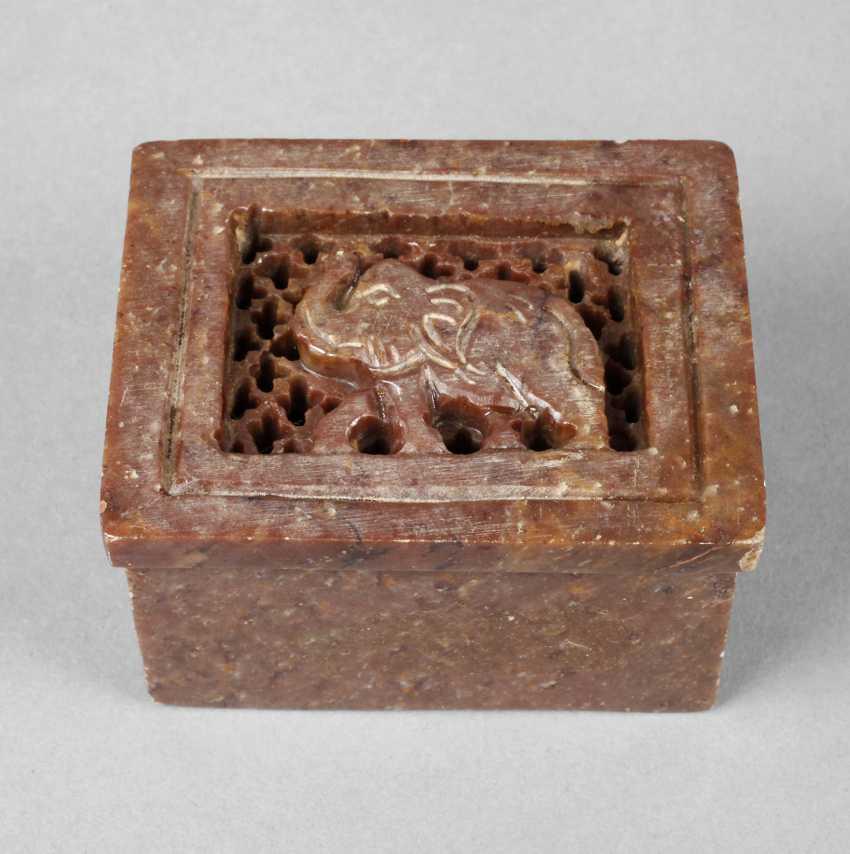 Lidded Box Stone Carving - photo 1