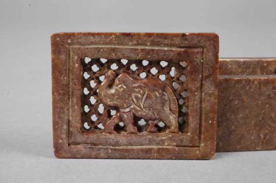 Lidded Box Stone Carving - photo 2