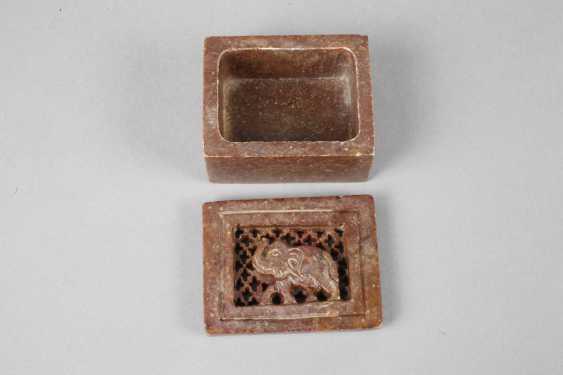 Lidded Box Stone Carving - photo 3
