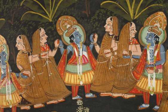 Malerei Radha Krishna Ras Lila - photo 3