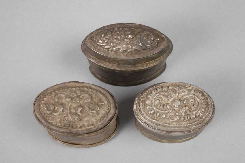 Four Silver Cans Of Persia - photo 4