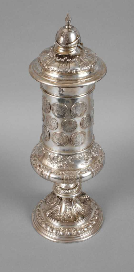 A Large Silver Cup Of The German War Association - photo 1