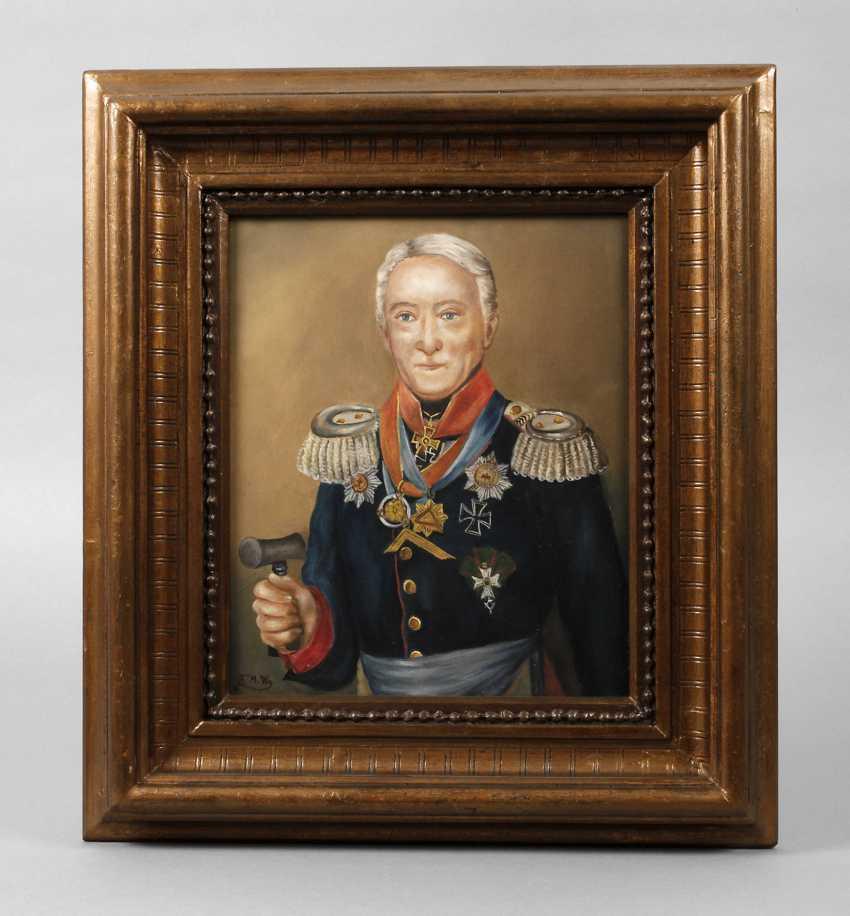 Painting of Leopold Wilhelm von Dobschütz - photo 1