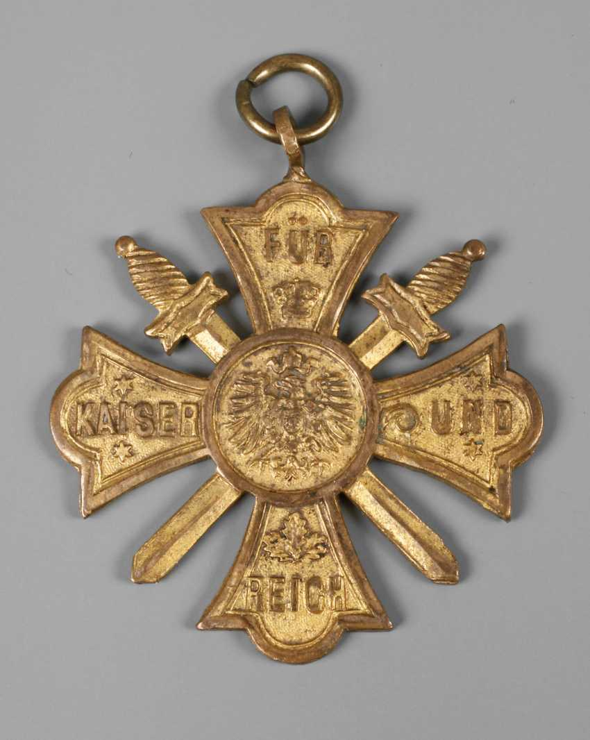Cross of honour with swords war club - photo 1