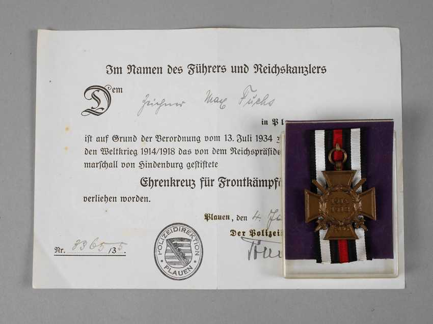 Cross of honour for front fighters - photo 1
