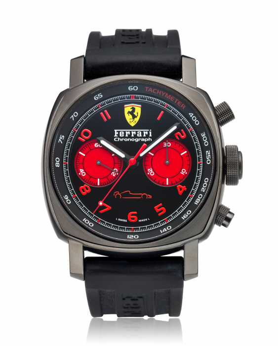 Panerai Buy At Veryimportantlot Com Auction Of The Artwork Panerai Ferrari Pvd Steel Chronograph Ref Fer 00038 Limited Edition Of 100 Artist Panerai At A Low Price Catalog From 05 08 2020 Lot 149