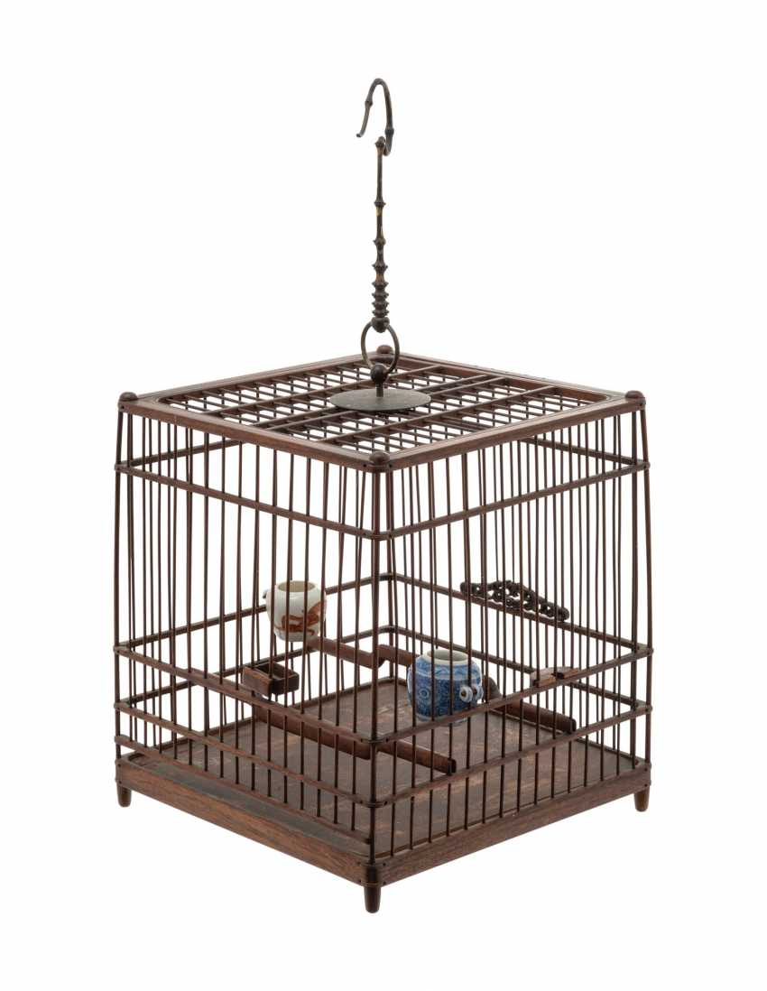 A CHINESE HUALI BIRDCAGE - photo 2