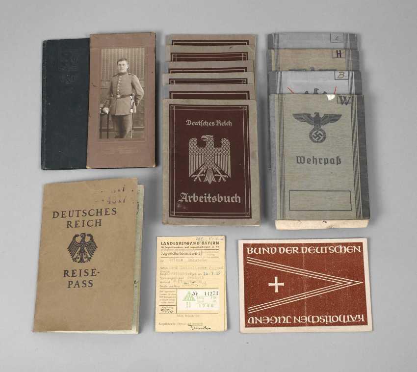 Vintage military passports and work books - photo 1