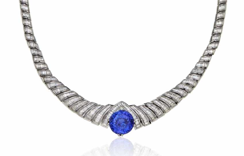TANZANITE AND DIAMOND NECKLACE - photo 1