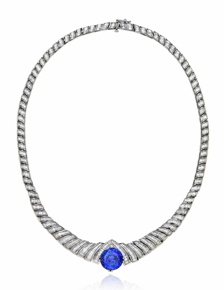TANZANITE AND DIAMOND NECKLACE - photo 2