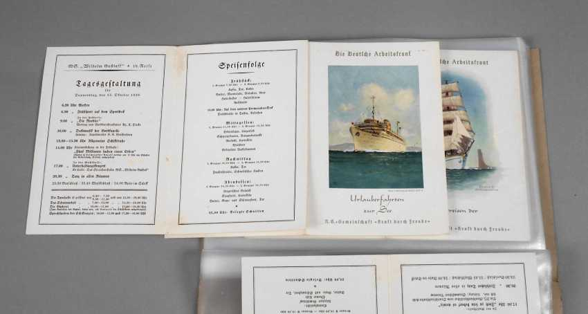 """The dining cards of the """"Wilhelm Gustloff"""" in 1938 - photo 1"""