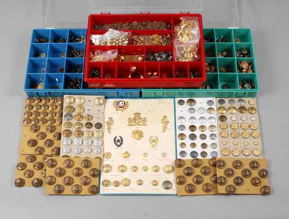 Collection of buttons and badges of rank - photo 1