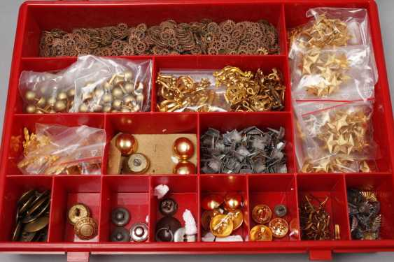 Collection of buttons and badges of rank - photo 2