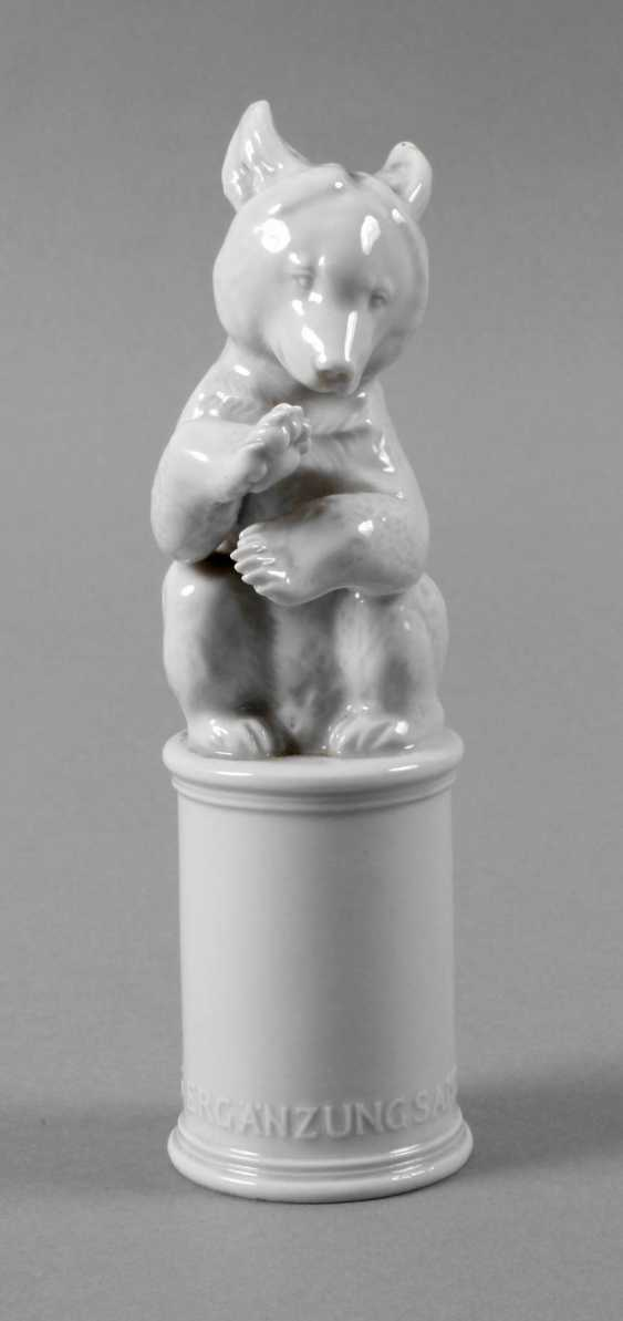 "Allach ""bear, asking"" on a pedestal - photo 1"