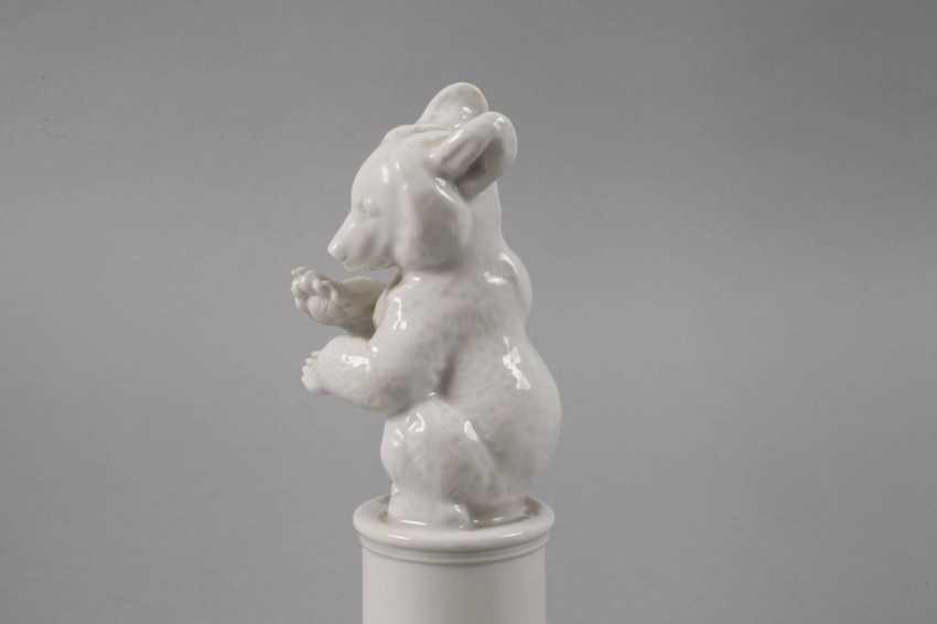"Allach ""bear, asking"" on a pedestal - photo 4"