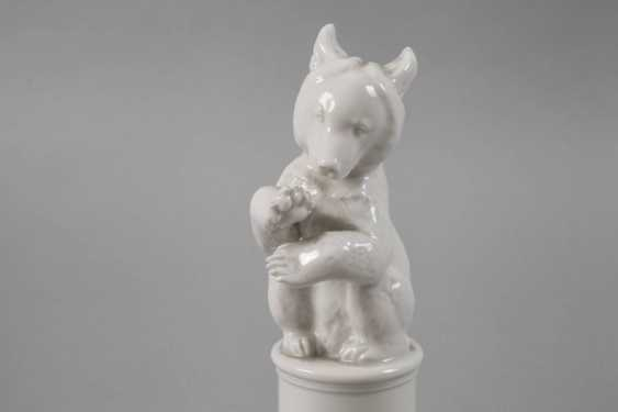 "Allach ""bear, asking"" on a pedestal - photo 5"