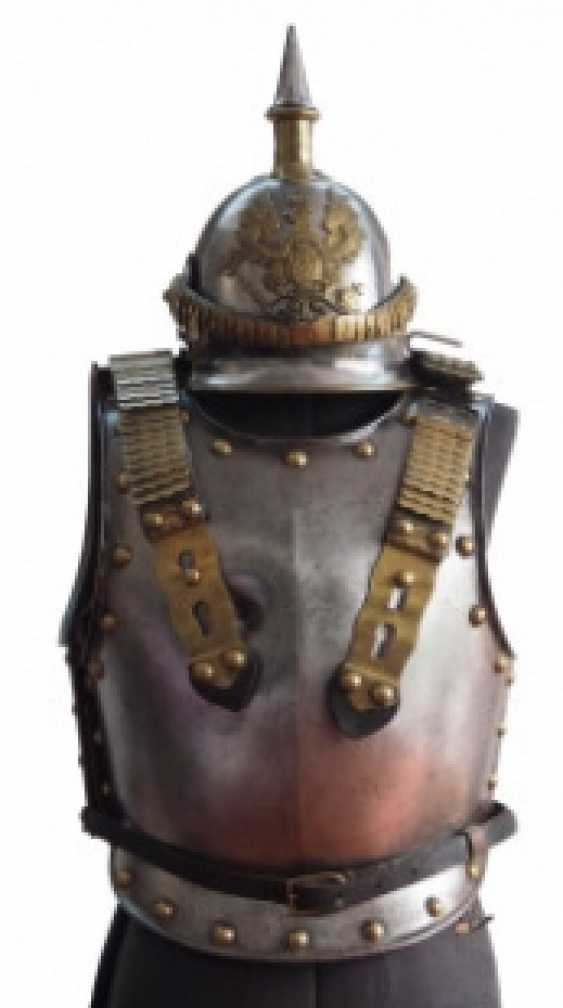 Prussia: cuirass and helmet for crews of the cuirassier Regiments 3, 4, 5, 7, and 8