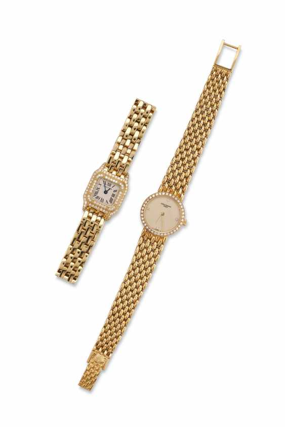 TWO GOLD AND DIAMOND WRISTWATCHES - photo 1