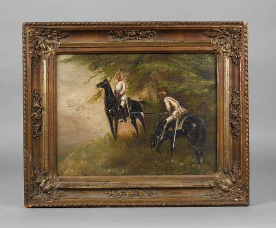 Oil painting of two cuirassiers - photo 1