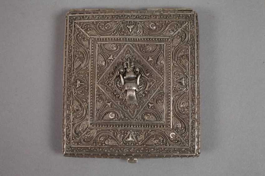 Cigarette case and match box, silver - photo 2