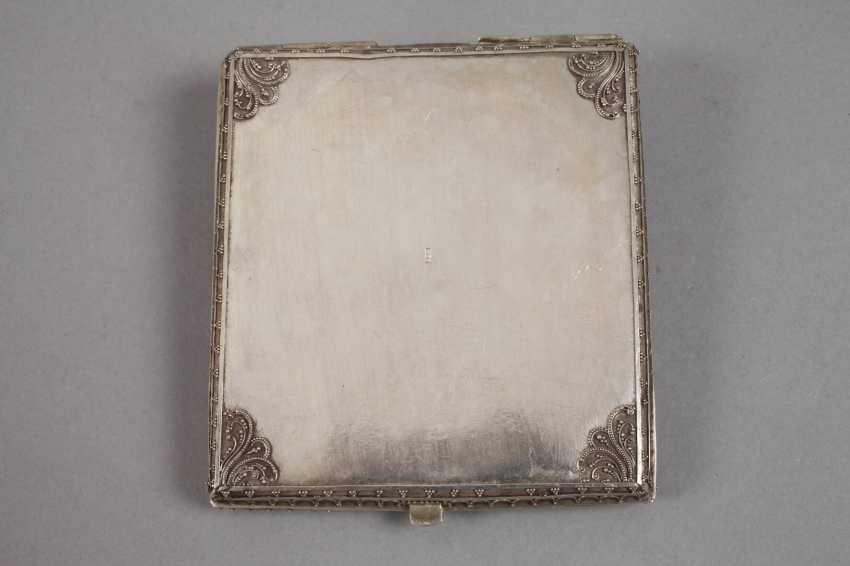 Cigarette case and match box, silver - photo 3