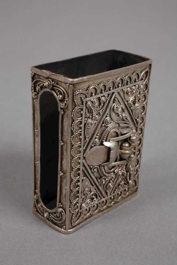 Cigarette case and match box, silver - photo 4