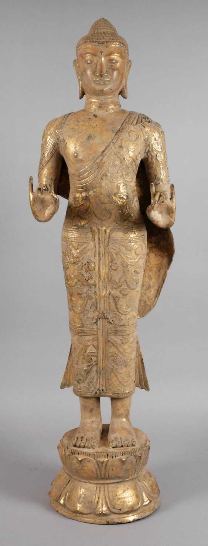 Large standing Buddha - photo 1