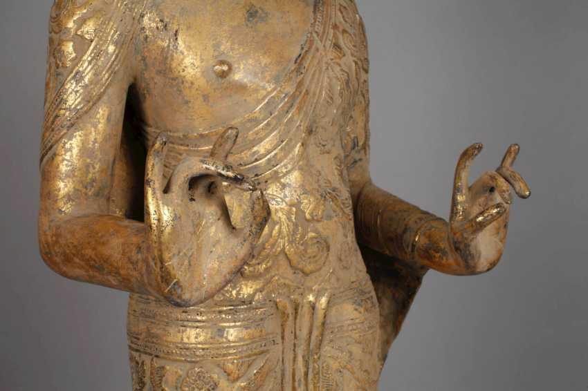 Large standing Buddha - photo 4