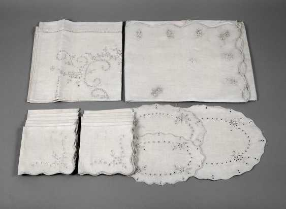 Table Set-White Embroidery - photo 1