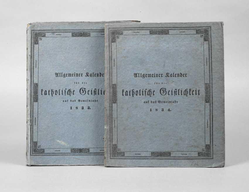 Catholic Calendar Austria 1833/34 - photo 1
