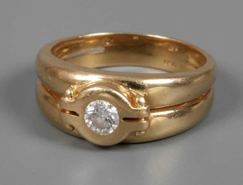 Ladies ring with Brillant - photo 1